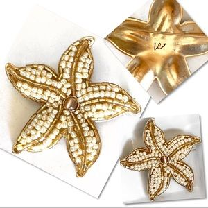 Vintage Jewelry - Liz Claiborne pearl beads on Starfish pin brooch